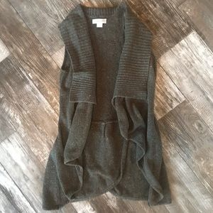 Christopher & Banks Sleeveless Cardigan ~ Medium